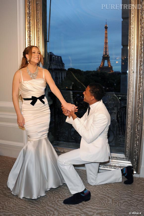 Mariah Carey et Nick Cannon, une demande à Paris.
