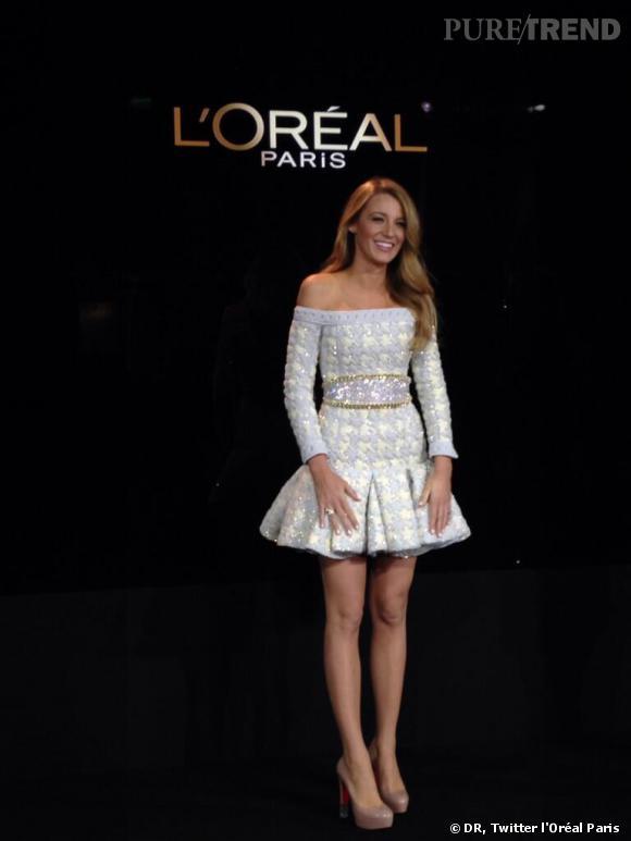 L'Oréal Paris a officialisé la nouvelle de l'arrivée de Blake Lively dans son équipe d'égérie en postant ce cliché sur Twitter.