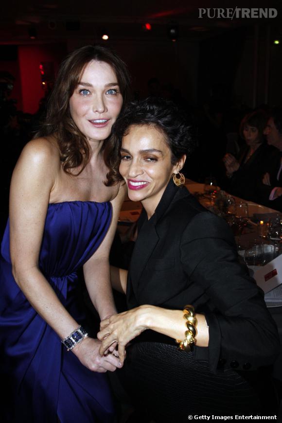 Carla Bruni et Farida Khelfa, des amies de longues dates.