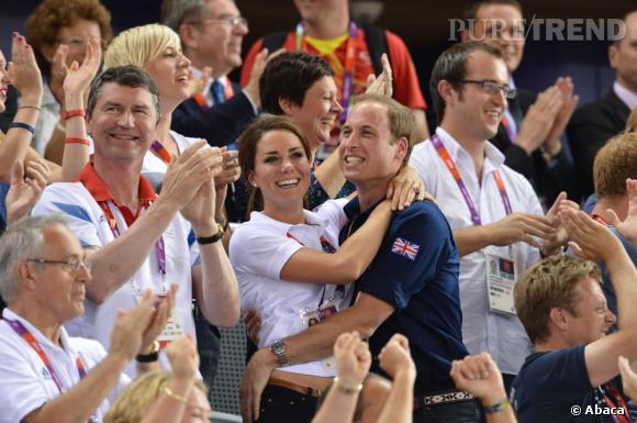 Kate Middleton et le Prince William aux JO de Londres 2012.