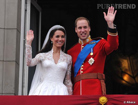 Kate Middleton et le prince William le jour de leur mariage en 2011.