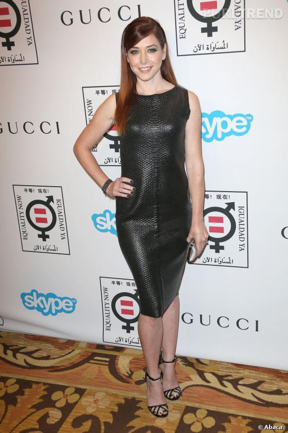 Alyson Hannigan enfin sexy grâce au cuir.