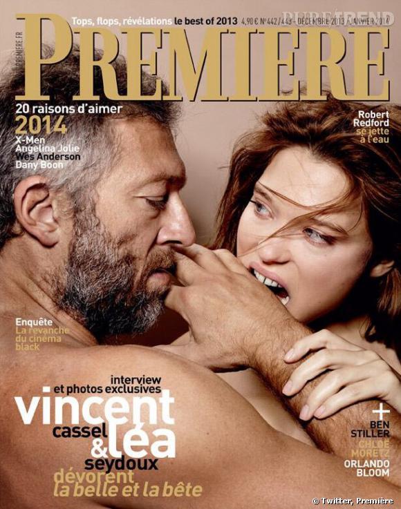 Léa Seydoux et Vincent Cassel en couverture du prochain numéro Première.