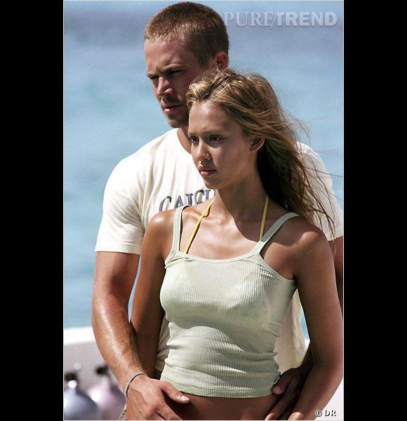 "Paul Walker et Jessica Alba dans ""Bleu d'enfer""."