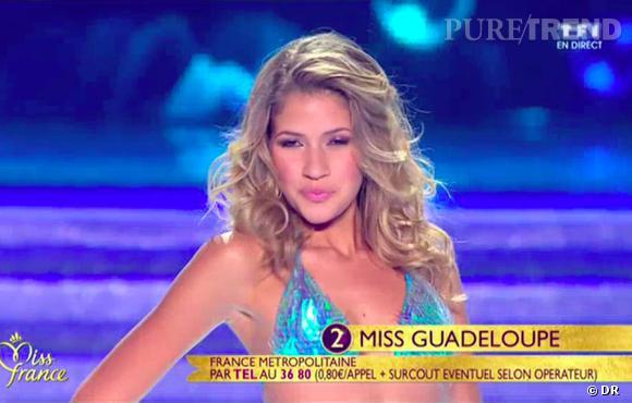 L'épreuve du défilé en bikini des finalistes au titre de Miss France 2014.