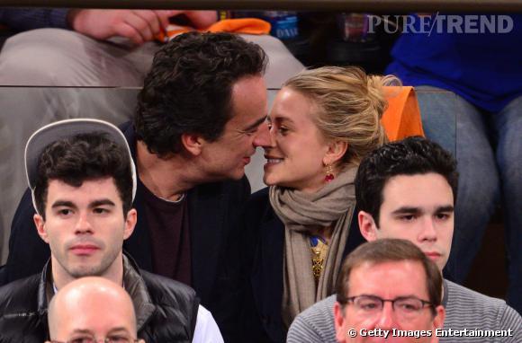 Mary-Kate Olsen et Olivier Sarkozy, fans de basket et complices dans les gradins.