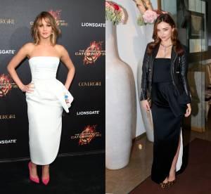 Jennifer Lawrence vs Miranda Kerr : la robe bustier Dior, sage ou rock'n'roll ?