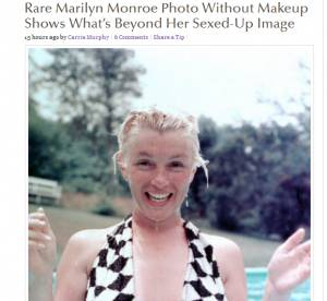 Marilyn Monroe sans maquillage : une surprenante photo refait surface