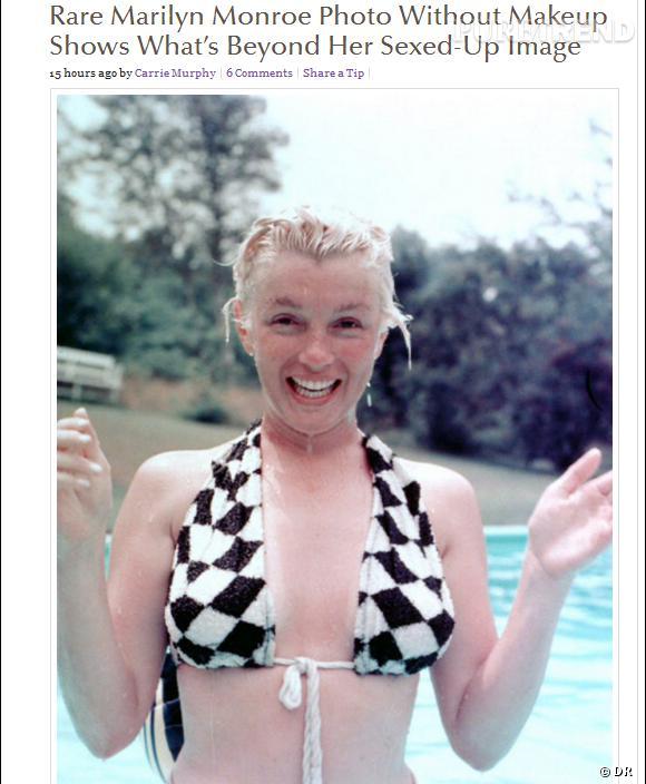 Marilyn Monroe, son cliché sans maquillage sur le site TheGloss.