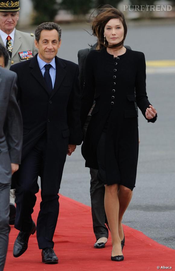 Nicolas Sarkozy et Carla Bruni maîtrise l'art de la mèche.