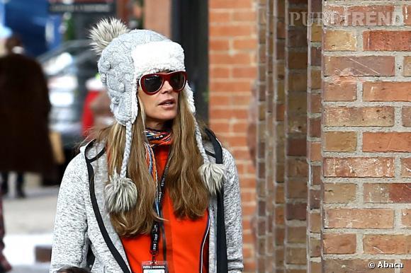 Elle Macpherson ne s'y est pas trompé : pour le séjour au ski, rien ne vaut un bonnet péruvien (ici, entre la chapka et le bonnet péruvien).
