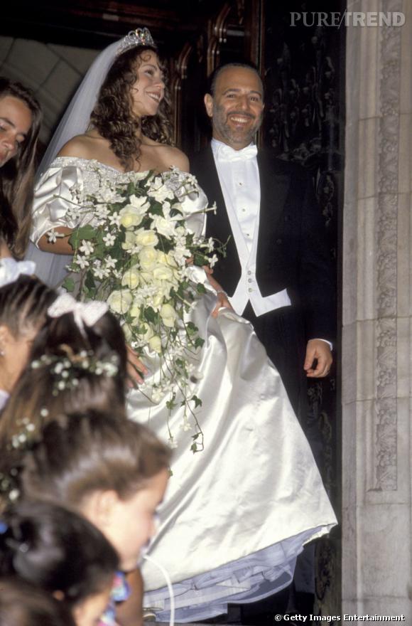 En 1993, Mariah Carey mise sur une robe Wang pour son mariage.