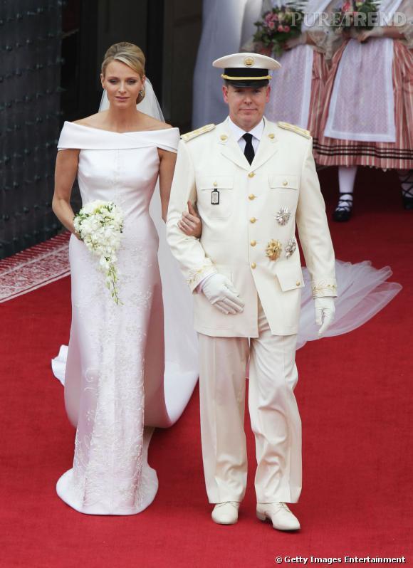Charlene Wittstock s'est mariée dans une robe Armani Privé.