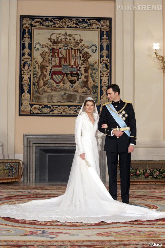 Letizia Ortiz se marie en Manuel Pertegaz.