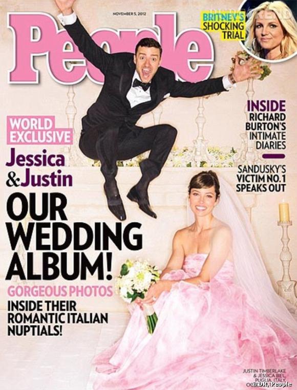 Jessica Biel s'est mariée à Justin Timberlake en rose et en Giambattista Valli.