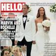 """Rochelle du groupe """"The Saturdays"""" se marie dans une robe en organza."""
