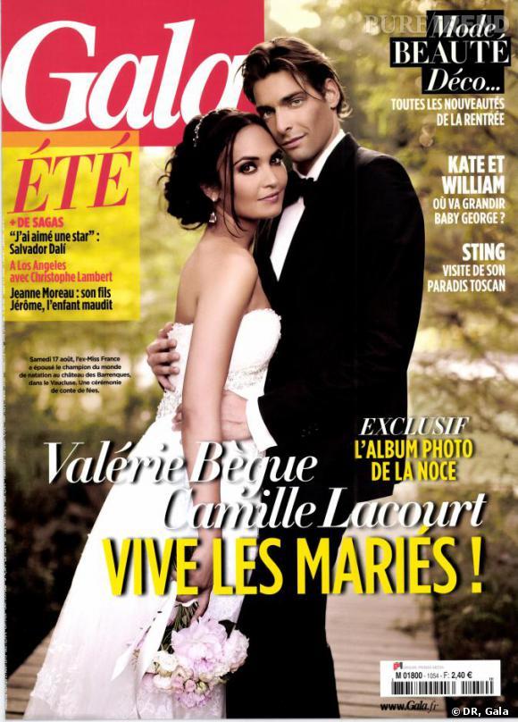 Valérie Bègue dévoile son mariage et sa robe au magazine Gala.