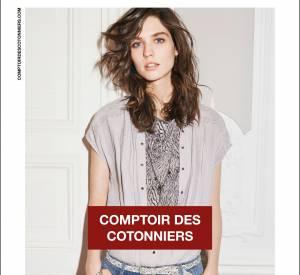 Campagne Printemps-Été 2014 Comptoir des Cotonniers avec le top Manon Leloup.
