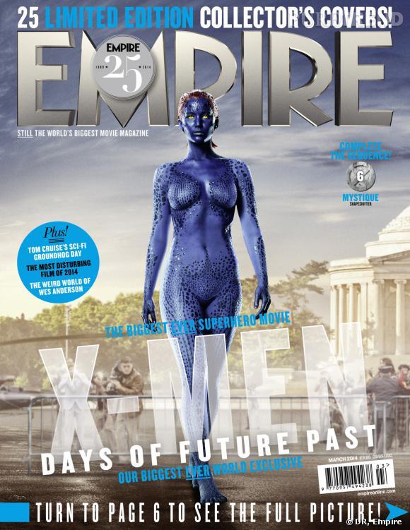 """Jennifer Lawrence (alias Mystique) fait partie des 25 couvertures du magazine Empire sur """"X-Men : Days of Future Past""""."""