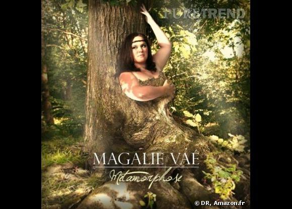 """Magalie Vaé, femme tronc pour son nouvelle album """"Métamorphose""""."""