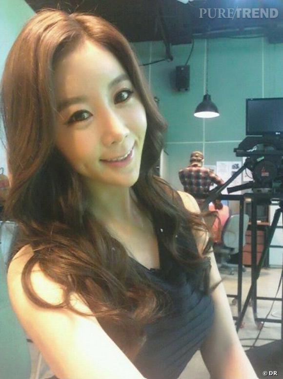 Won Jayhun, animatrice télé en Corée du sud, a opté pour un visage en coeur.