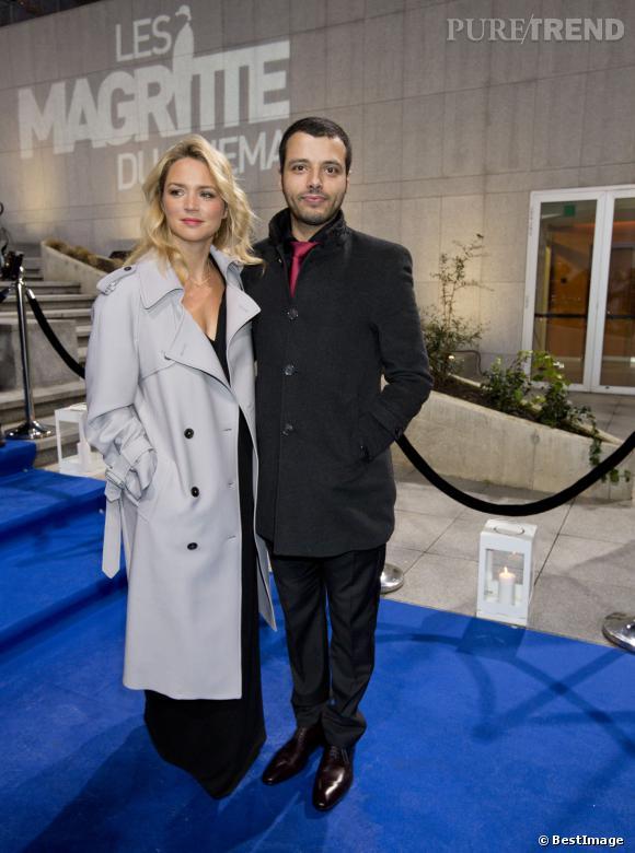 Virginie Efira et Mabrouk El Mechri, couple glamour aux Magritte du cinéma 2014.