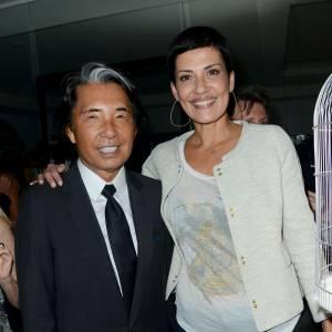 Cristina Cordula, bête de mode avec le styliste japonais Kenzo Takada.