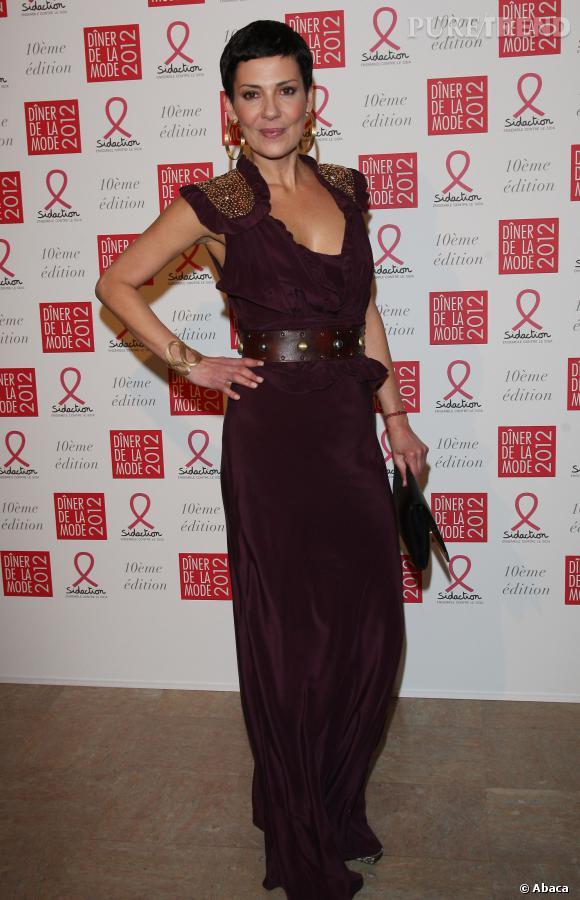 """Cristina Cordula au """"Diner de la Mode"""" aimerait créer sa marque de vêtements."""