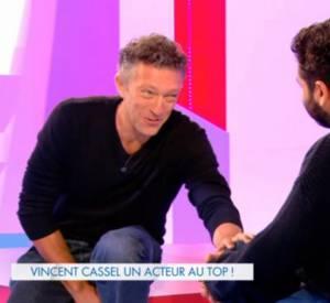 """Vincent Cassel invité de l'émission """"Clique"""" sur Canal+ le samedi 1er février dernier."""
