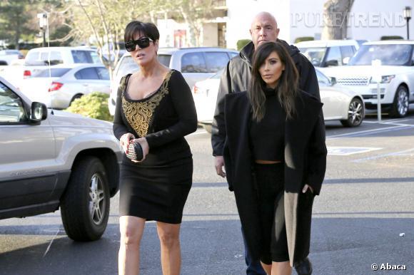 Kim Kardashian et Kris Jenner, toujours aussi discrètes dans les rues de Beverly Hills.