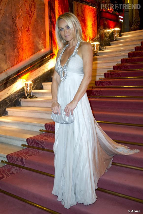 Cécile de Ménibus au Gala du dîner de la Croix Rouge en novembre 2012.