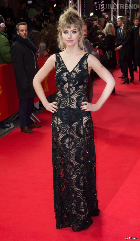 "Imogen Poots lors de la projection de ""A Long Way Down"" lors de la Berlinale 2014."