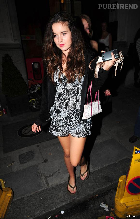 Assisi Jacksob, fille de Jade Jagger, ici en 2008.