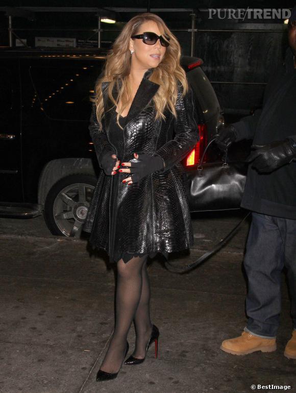 Mariah Carey : bas résilles + python, elle nous sort le grand jeu.