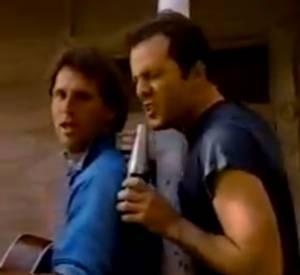 Bruce Willis donne de la voix pour Seagram's Wine.