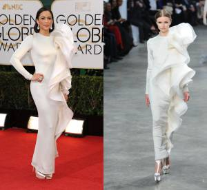 Paula Patton vs Podium : la robe froufrous Stéphane Rolland Couture
