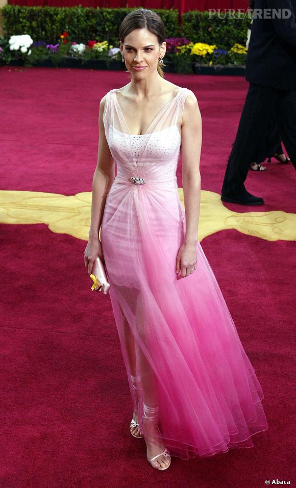 Hilary Swank, son overdose de romantisme aux Oscars 2003.