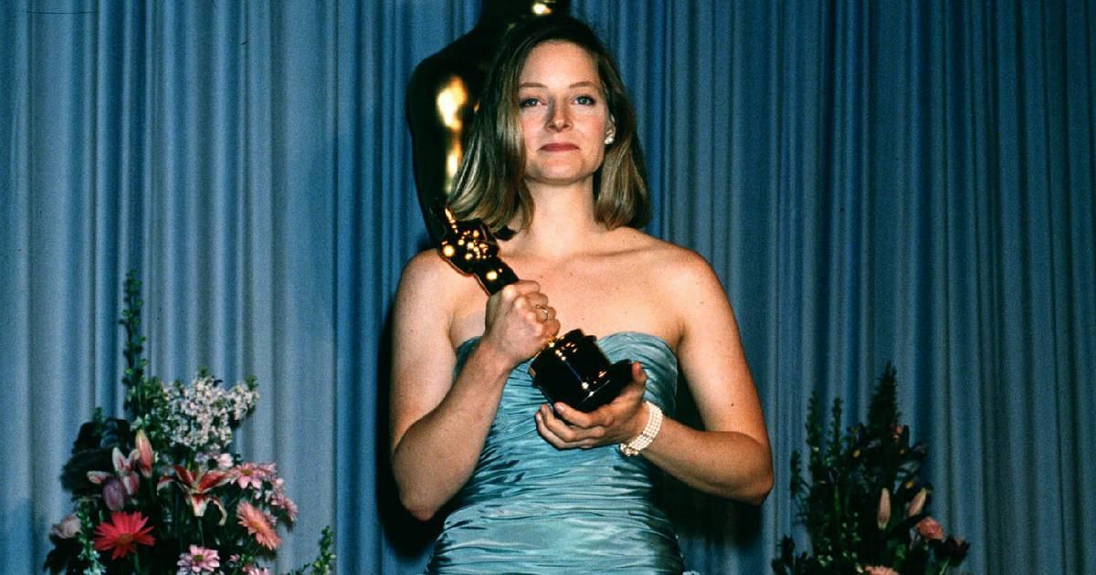 Jodie Foster à l'époque ingrate aux Oscars 1989....