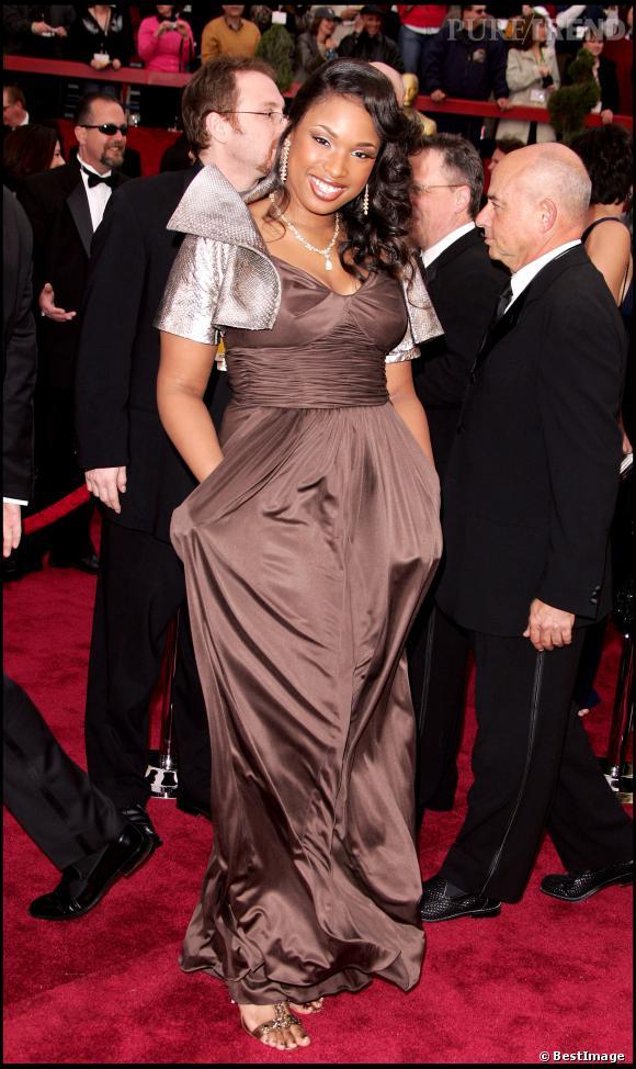 Jennifer Hudson dit bye-bye au glamour aux Oscars 2007.