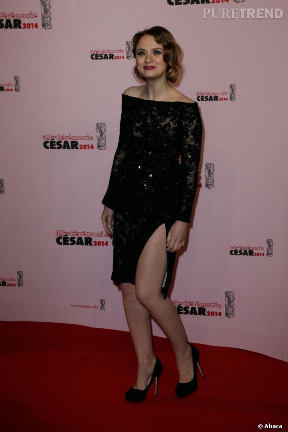 César 2014 : Sara Forestier, l'une des stars de la soirée.