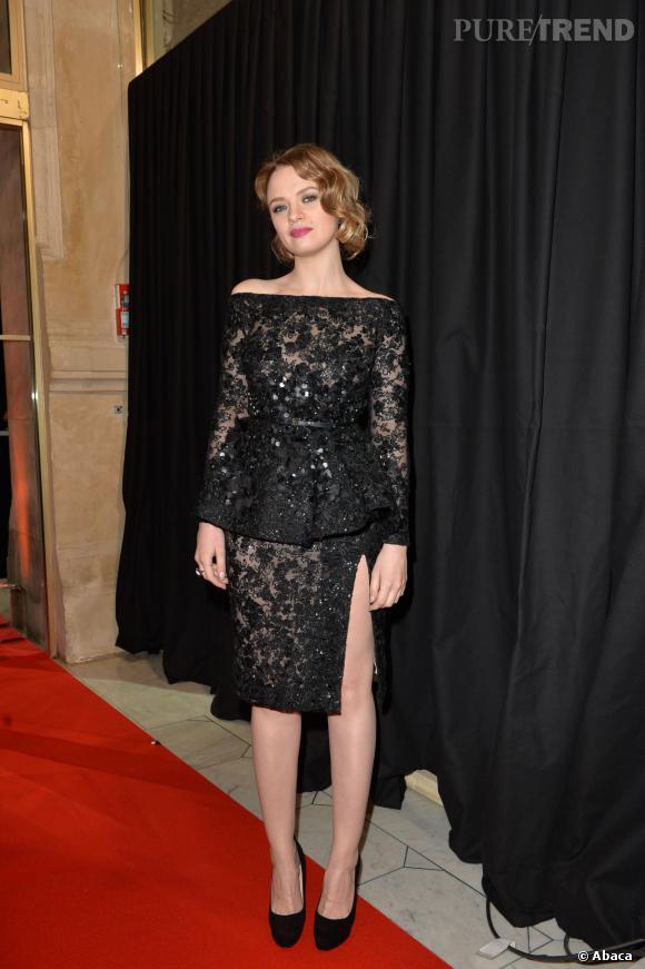 César 2014 : Sara Forestier, le style retro oui mais sensuel aussi.