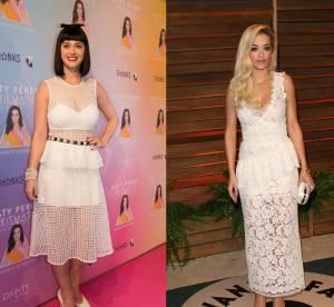 Katy Perry vs Rita Ora : la robe peplum en dentelle