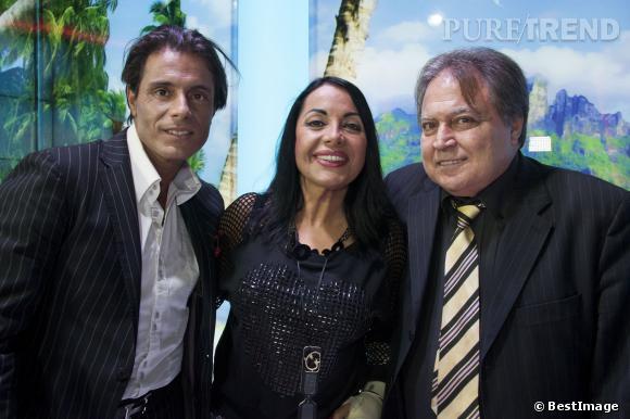 Giuseppe et ses parents Marie-France et Pasquale.