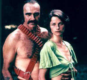 """Sean Connery et Charlotte Rampling dans le très kitsch """"Zardoz""""."""