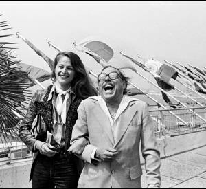 Charlotte Rampling et Tennesse Williams lors du Festiva de Cannes de 1976.