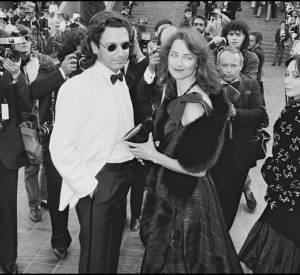 Jean-Michel Jarre et Charlotte Rampling au Festival de Cannes 1983.