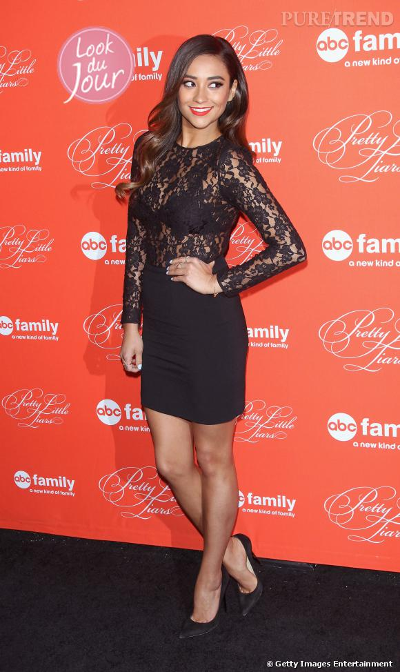 "Shay Mitchell lors de la projection du dernier épisode de la saison 4 de ""Pretty Little Liars"" à New York le 18 mars 2014."