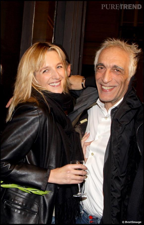 Gérard Darmon et Christine lors de l'inauguration de la première boutique Audigier à Paris le 3 décembre 2007.