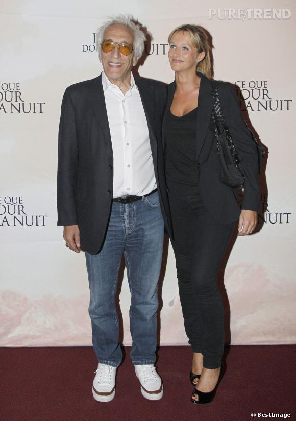 Gérard Darmon et Christine au photocall du film Ce que le jour doit à la nuit, le 3 septembre 2012.