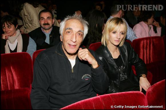 Gérard Darmon et Christine au spectacle de Laurent Baffie en mars 2006.